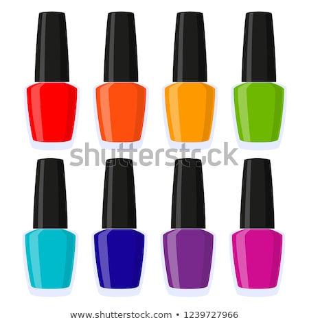 Esmalte de uñas botellas vector Cartoon ilustración color Foto stock © RAStudio