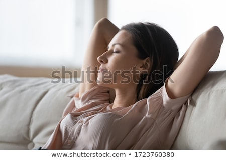 Woman leaning back stretch at home Stock photo © IS2