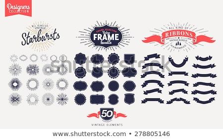 Mértani absztrakt izolált alkotóelem logo logoterv Stock fotó © studioworkstock