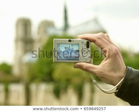 Pessoa quadro catedral mão Foto stock © IS2