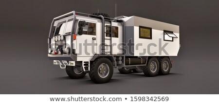 Avontuurlijk reis huis wielen kampeerder van Stockfoto © Anna_Om