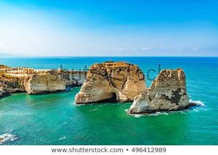 Libanon híres tájékozódási pont természet tenger minta Stock fotó © FreeProd