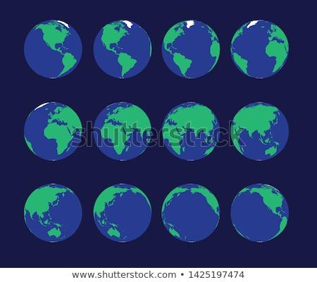 мира · ночное · небо · модель · Мир · фон · земле - Сток-фото © is2