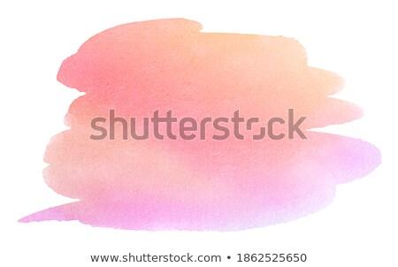 Verde naranja acuarela pintado mancha aislado Foto stock © balasoiu