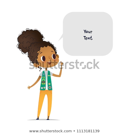 A Cute Girl Scout on White Background Stock photo © bluering