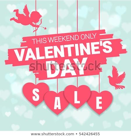 Valentin nap terv szeretet tipográfia levél piros Stock fotó © articular
