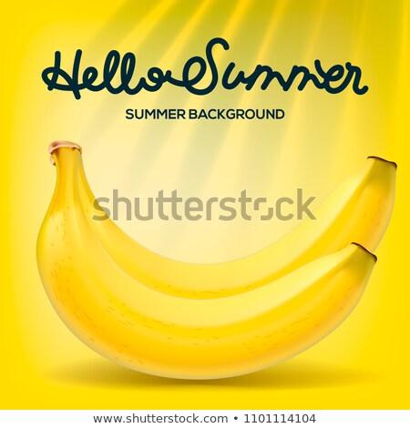 Alo vară poster banane galben plajă Imagine de stoc © ikopylov