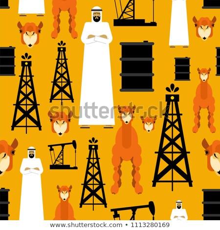 Pattern arab olio pompare benzina Foto d'archivio © popaukropa