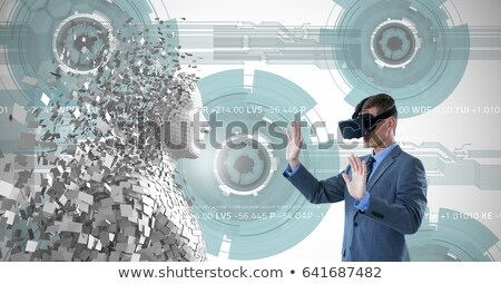 Digital composite image of pixelated gray 3d man Stock photo © wavebreak_media