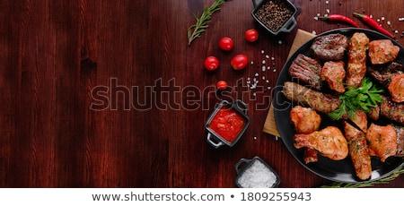 ケバブ バーベキュー ホット 木炭 料理 食品 ストックフォト © bryndin