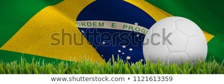 Cyfrowo wygenerowany biały skóry piłka nożna Zdjęcia stock © wavebreak_media