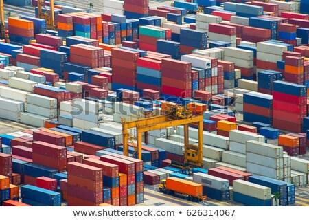 Portu pracy postęp długo pojazd ciężarówka Zdjęcia stock © joyr