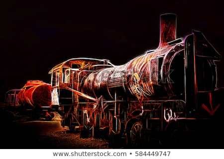 Oude treinstation Bolivia woestijn metaal Stockfoto © daboost
