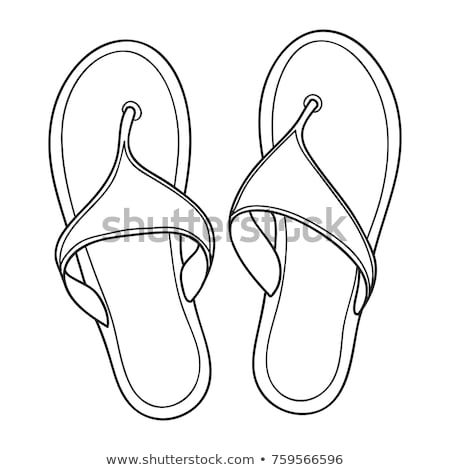 Flip flop sandal hand drawn outline doodle icon. Stock photo © RAStudio