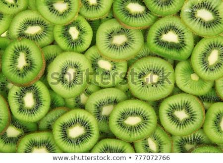 Kiwi gyümölcs makró lövés friss zöld Stock fotó © fyletto