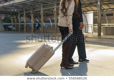 Wife seeing her husband off to business trip Stock photo © Elnur