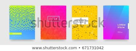Streszczenie niebieski żółty półtonów wzór tle Zdjęcia stock © SArts