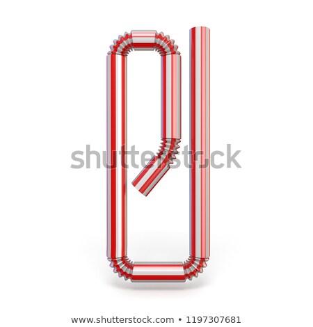 сока · красный · трубка · апельсиновый · сок · стекла · изолированный - Сток-фото © djmilic