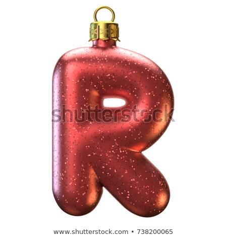 Christmas alphabet letter R Stock photo © grafvision