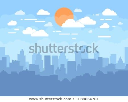 市 シルエット 高層ビル 建物 空 オフィス ストックフォト © MaryValery