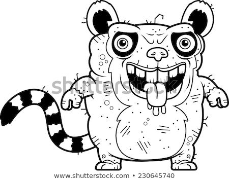 Feio em pé desenho animado ilustração sujo vetor Foto stock © cthoman