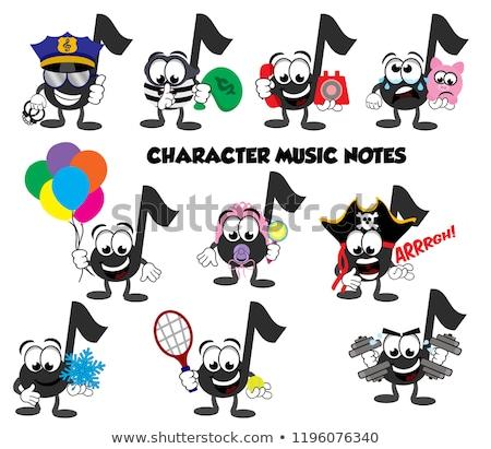 Szomorú rajz zenei hang illusztráció néz Stock fotó © cthoman