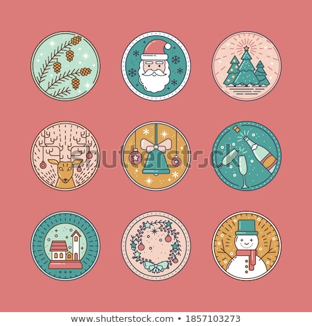 grappig · kerstman · cartoons · collectie · cartoon - stockfoto © liolle