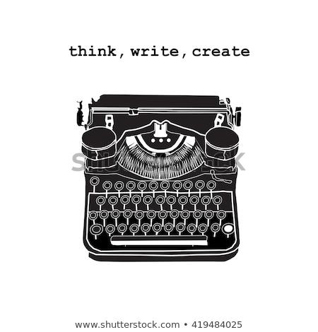 homme · écrit · machine · à · écrire · affaires · papier · fenêtre - photo stock © jossdiim