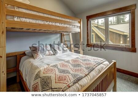 Slaapkamer bed plafond noordwesten USA huis Stockfoto © iriana88w