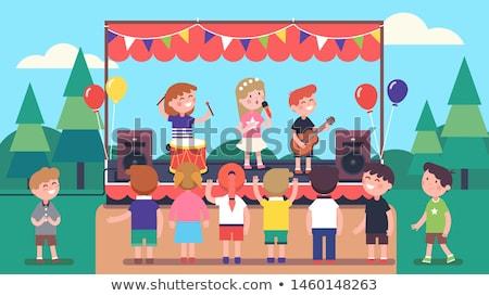 Karikatür balon şarkı söyleme örnek Stok fotoğraf © cthoman