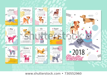 set of animal times table stock photo © bluering
