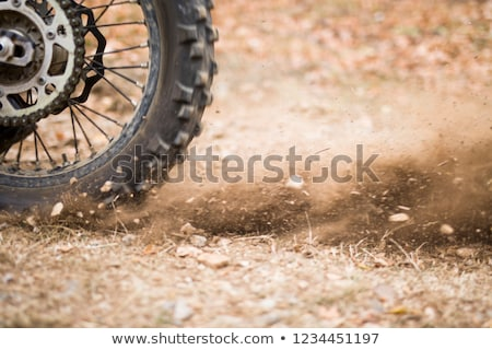 Motocross endurance wheel closeup Stock photo © boggy