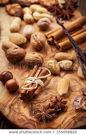 variation of baking ingredients for christmas cookies stock photo © brebca