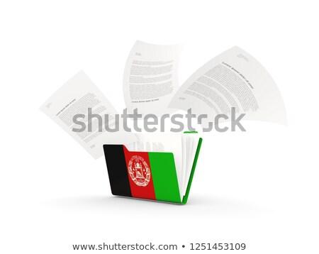 Mappa zászló Afganisztán akták izolált fehér Stock fotó © MikhailMishchenko