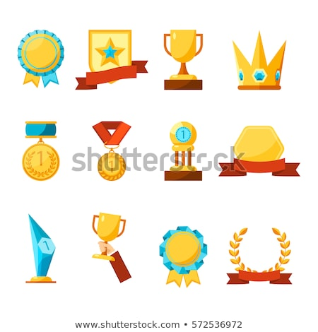 Award Cups Made of Gold Set Vector Illustration Stock photo © robuart