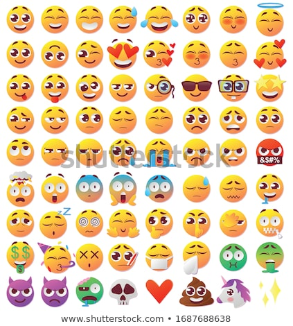 Cara expresiones establecer iconos vector Foto stock © robuart