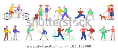 бадминтон бег набор люди играет Сток-фото © robuart