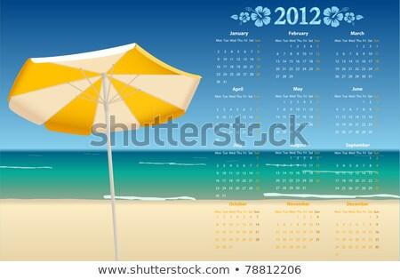 Vector Calendar 2012 With Tropic Beach Photo stock © Elisanth