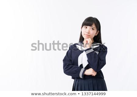 Kobieta marynarz garnitur biały twarz sexy Zdjęcia stock © Elnur