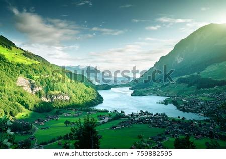 озеро альпийский мнение ландшафты центральный Швейцария Сток-фото © xbrchx