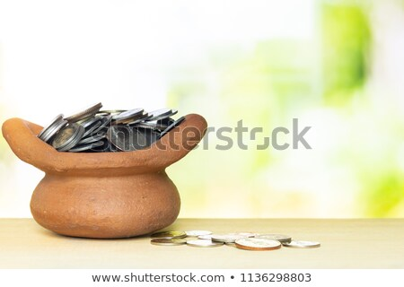 Pot full of gold coins  Stock photo © grafvision