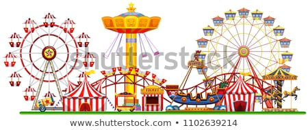 Color vintage Amusement park banner. Stock photo © netkov1