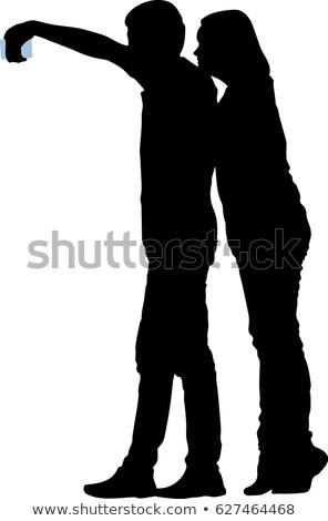 Sympatia chłopak wektora uśmiechnięty dziewczyna Zdjęcia stock © robuart
