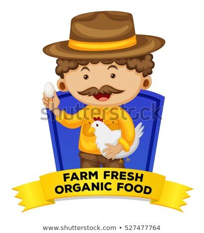 Occupation wordcard with farm fresh organic food Stock photo © colematt