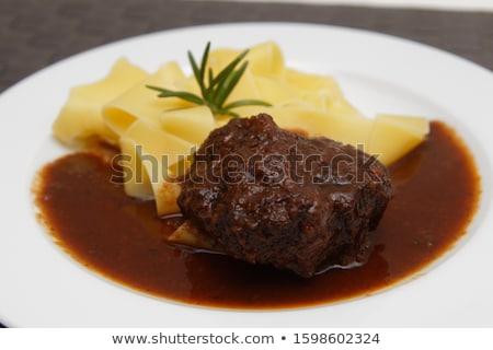 Stockfoto: Stoven · vertragen · kok · pasta · gekookt · eigengemaakt