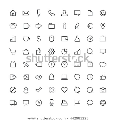 Office icons, set of different paper, vector illustration. Stock photo © kup1984