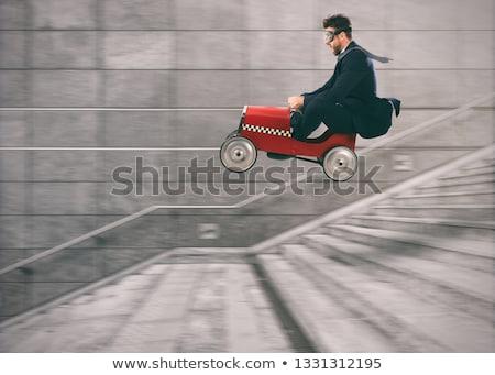 corredor · escaleras · hombre · mar · fitness · salud - foto stock © alphaspirit