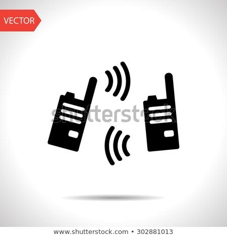 ポータブル · ラジオ · アイコン · ボタン · デザイン - ストックフォト © angelp