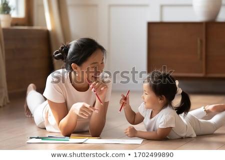 ребенка связи кричали ребенка портрет Сток-фото © Bananna