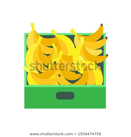 Banana Tropical Fruit in Plastic Container Seller Stock photo © robuart